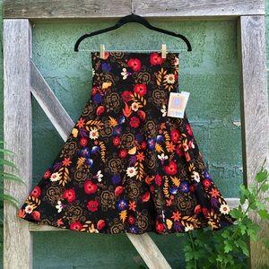 LulaRoe Azure high waisted A Lined Skirt Sz XS